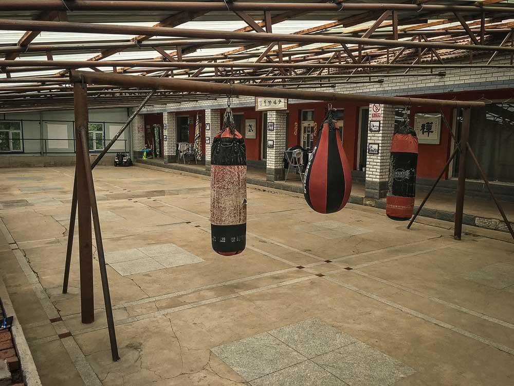Peter Rosendahl Blog Xing Long Kung Fu School main training hall with sandbags